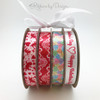 Our white lace on red ribbon can be used in combination with any of our other romantic ribbons! Mix and match for a fun Valentine party look!