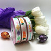 Mix pastel argyle with carrots a row and Happy Easter ribbons to tie on all your Easter baskets and treats!