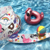 "Make the favors at your pool party really pop with our pool float ribbon! Our ribbon is 5/8"" wide printed on white single face satin."