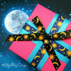 This fun Celestial ribbon comes in a blue and black background! What a fun ribbon for a stargazing party!