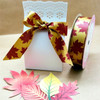 Make your Fall themed party favors pop with this elegant ribbon in burgundy and gold tying it all together!