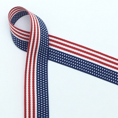 "The United State Flag is woven into this beautiful 7/8"" wide ribbon!"