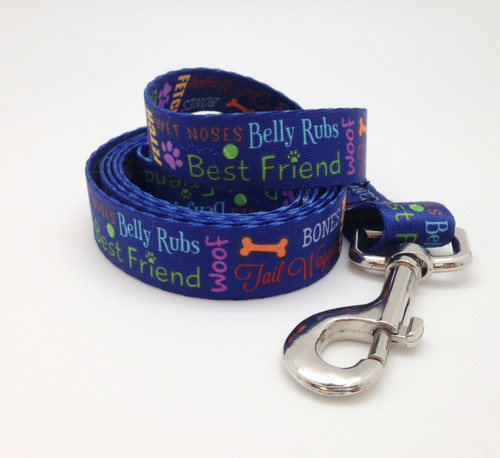 Doggie Word Block Dog Leash