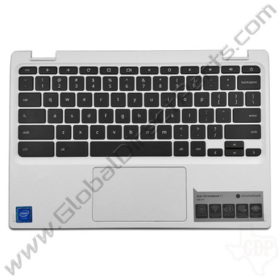 OEM Reclaimed Acer Chromebook 11 CB3-131 Keyboard with Touchpad [C-Side] - White