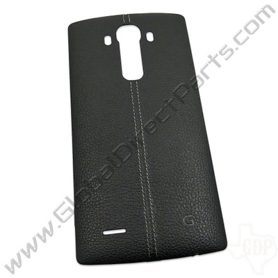 OEM LG G4 H811, H815, LS991, US991 Battery Cover - Black [Leather]