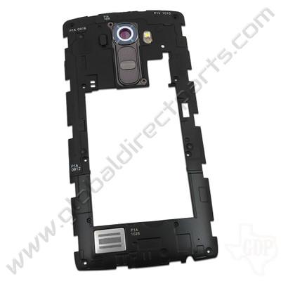 OEM LG G4 VS986 Rear Housing with Loud Speaker Module - Gray