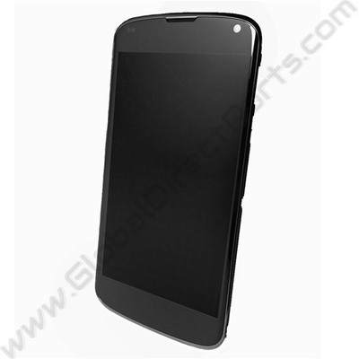 OEM LG Google Nexus 4 E960 LCD & Digitizer Assembly with Front Housing - Black