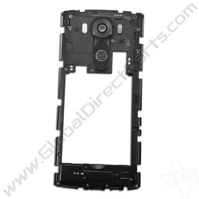 OEM LG V10 H900 Rear Housing with Loud Speaker Module - Black
