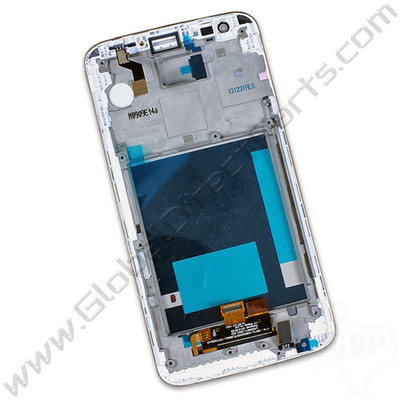 OEM Reclaimed LG G2 VS980W LCD & Digitizer Assembly with Front Housing - White