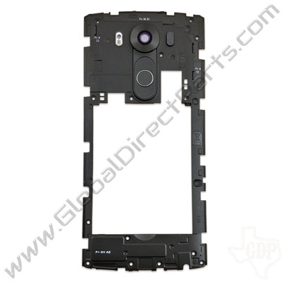 OEM LG V10 VS990, H901 Rear Housing with Loud Speaker Module - Black