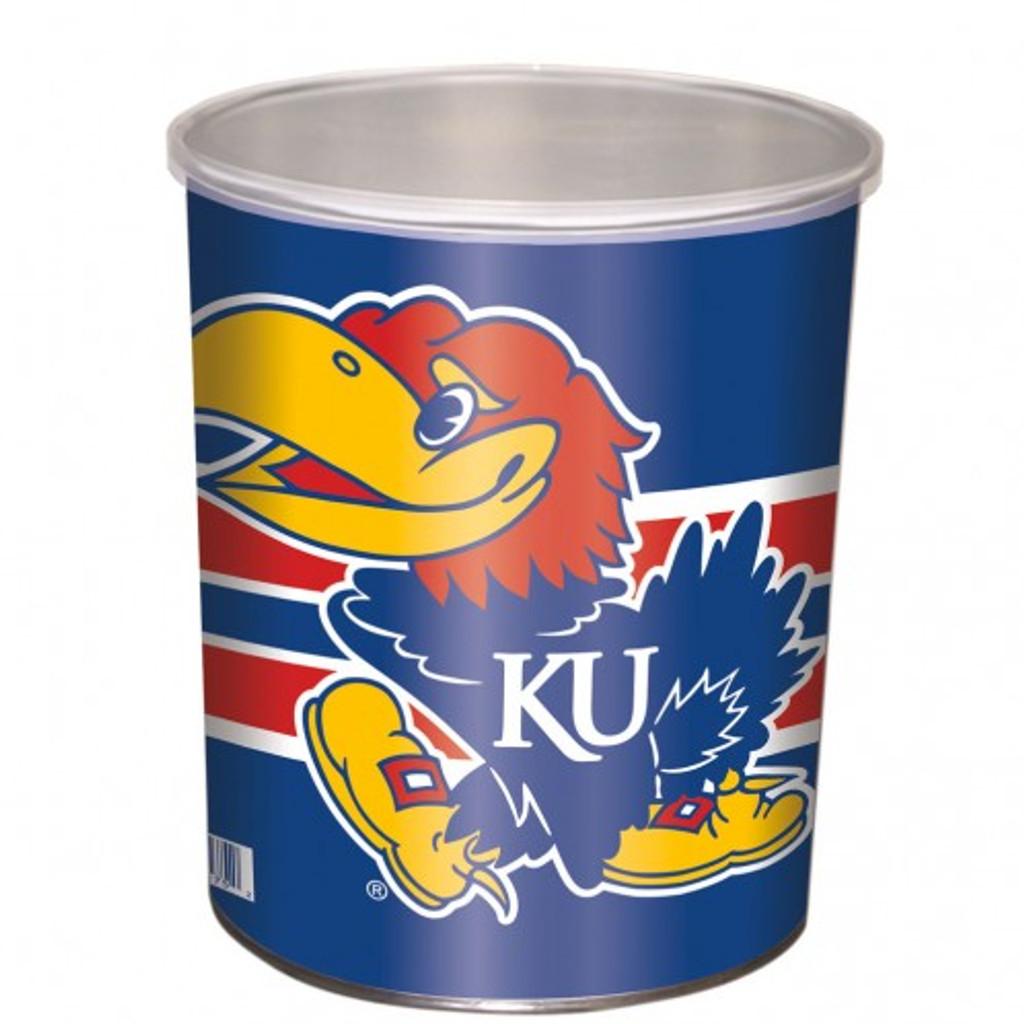 Kansas Jay Hawks 1 Gallon Tin