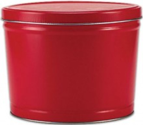 Solid Red 2 Gallon Tin