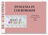 PSY 540 Dyslexia in Courtroom Presentation (SNHU)