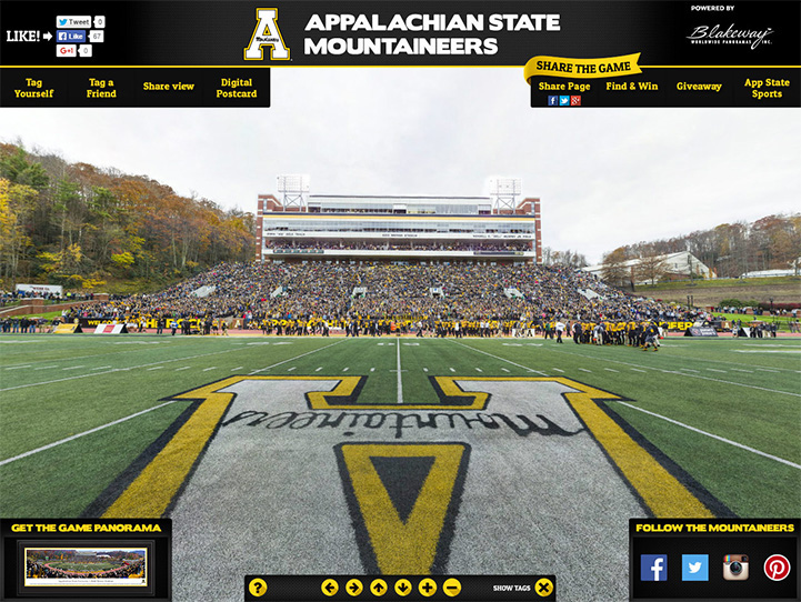 Appalachian State Mountaineers 360 Gigapixel Fan Photo