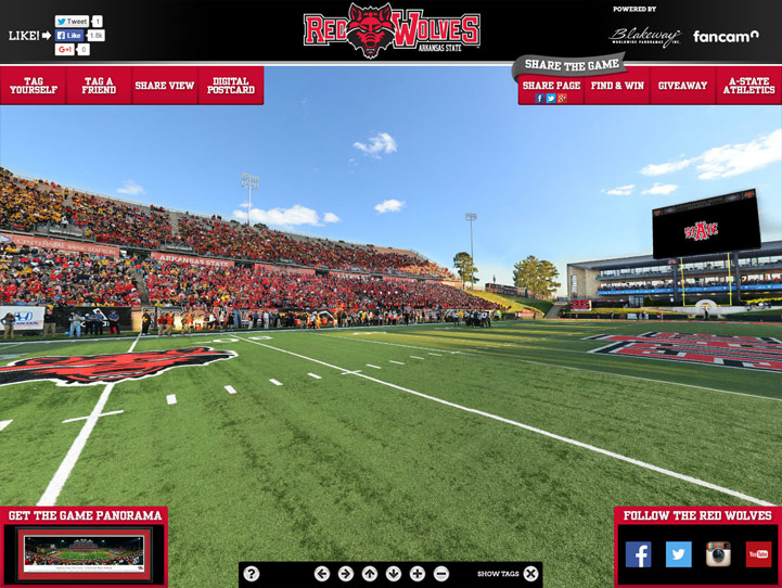 Arkansas State Red Wolves 360 Gigapixel Fan Photo
