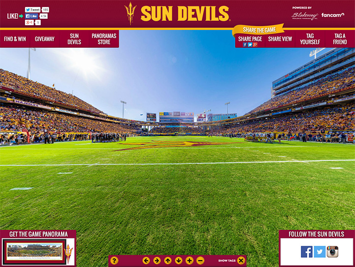 Arizona State Sun Devils 360 Gigapixel Fan Photo