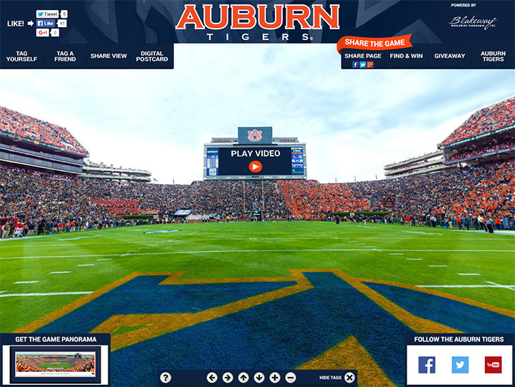 Auburn Tigers 360 Gigapixel Fan Photo