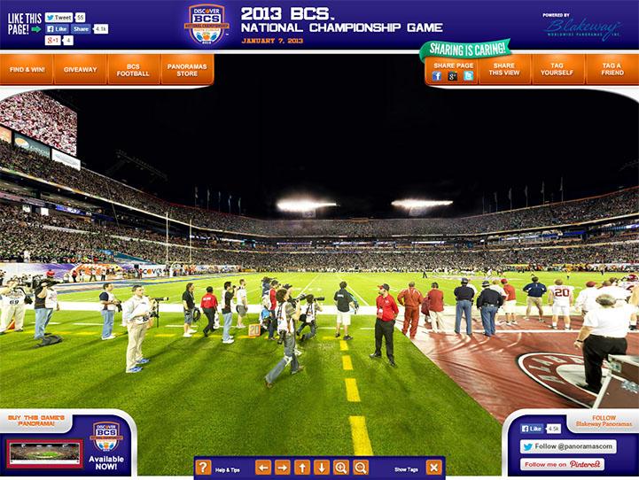 2013 BCS National Championship 360 Gigapixel Fan Photo