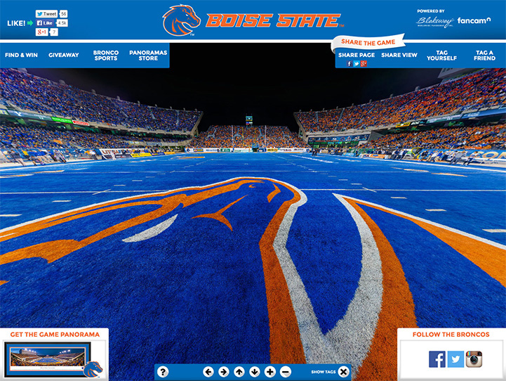 Boise State Broncos 360 Gigapixel Fan Photo