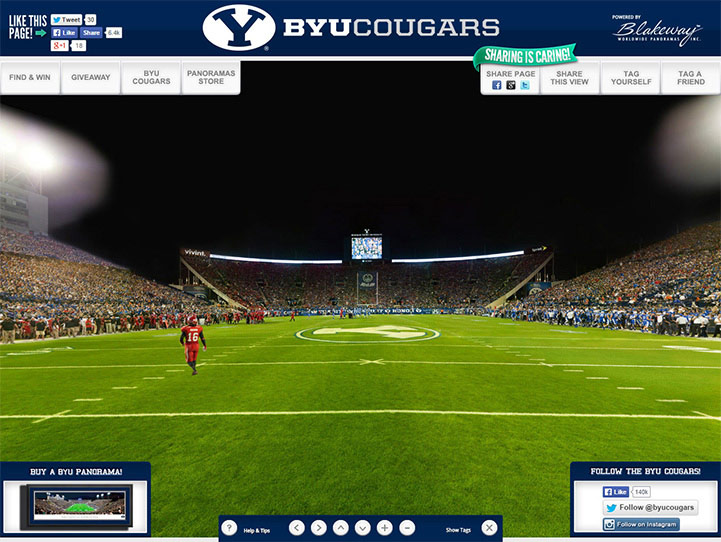 Brigham Young Cougars 360 Gigapixel Fan Photo