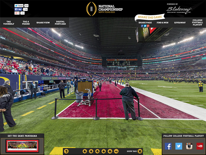 2015 CFP National Championship 360 Gigapixel Fan Photo