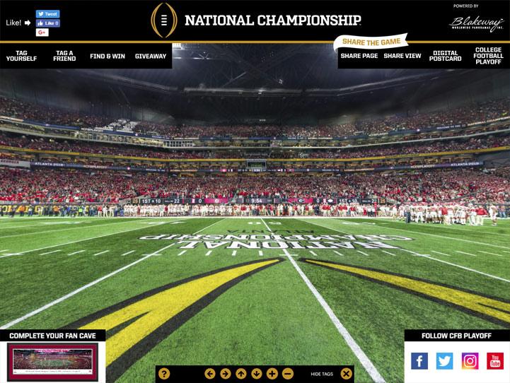 2018 CFP National Championship 360 Gigapixel Fan Photo