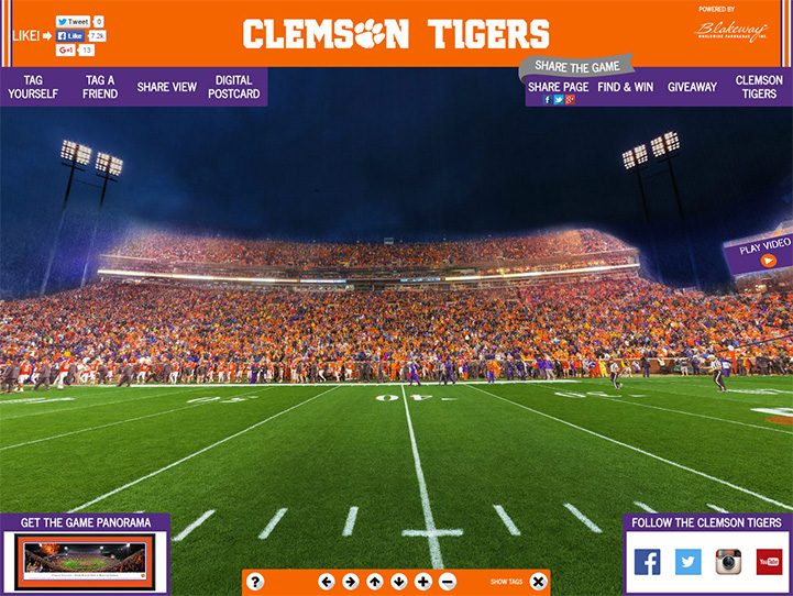 Clemson Tigers 360 Gigapixel Fan Photo