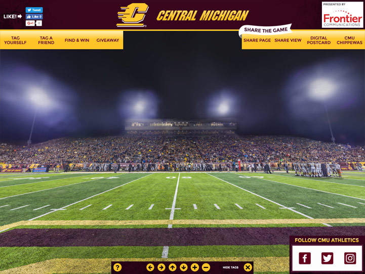 CMU Chippewas 360 Gigapixel Fan Photo