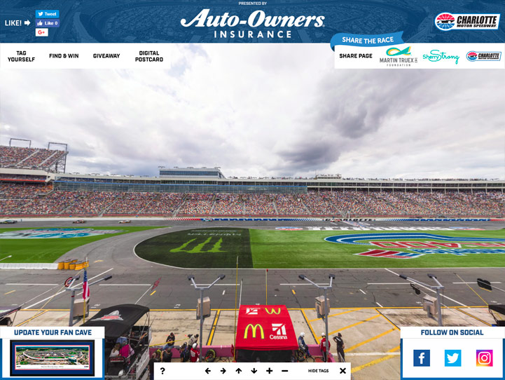 Charlotte Motor Speedway 360 Gigapixel Fan Photo