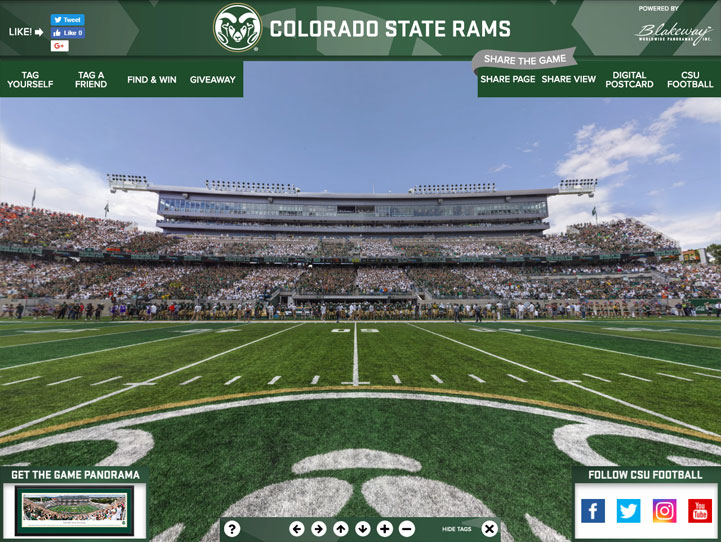 CSU Rams 360 Gigapixel Fan Photo