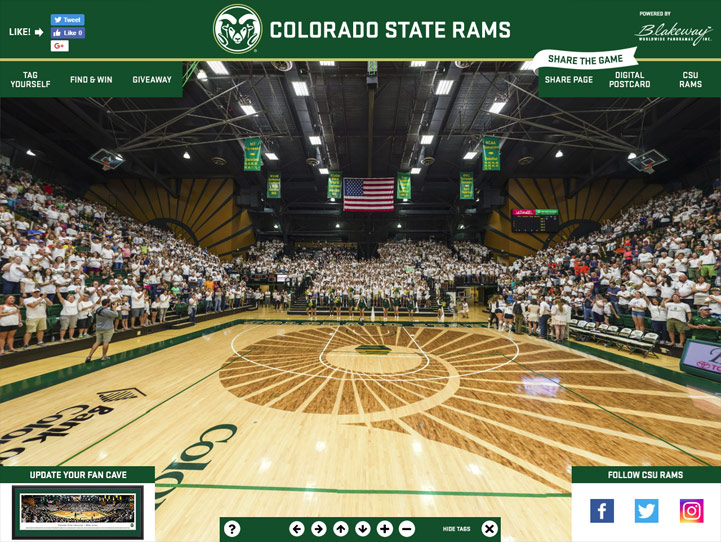 Colorado State Rams 360 Gigapixel Fan Photo