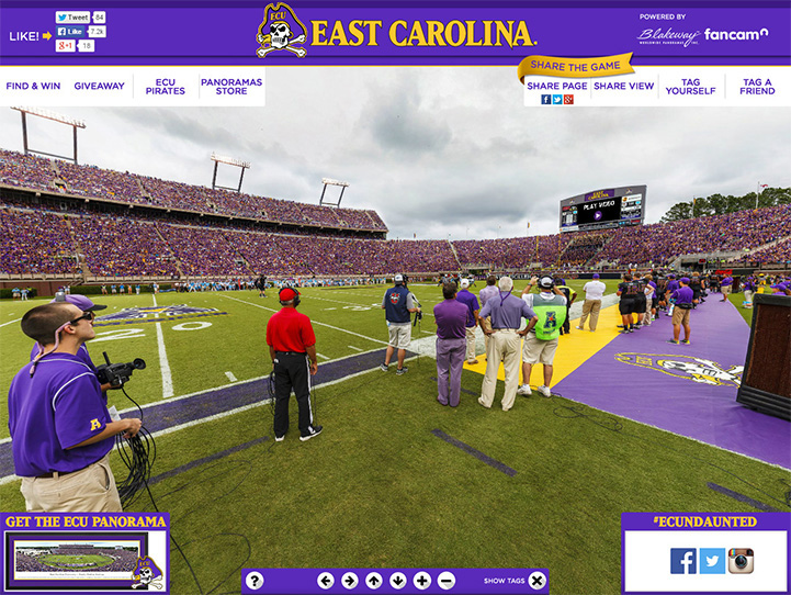 East Carolina Pirates 360 Gigapixel Fan Photo