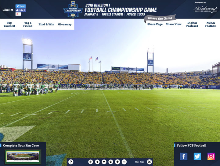 2018 NCAA FCS National Champions 360 Gigapixel Fan Photo