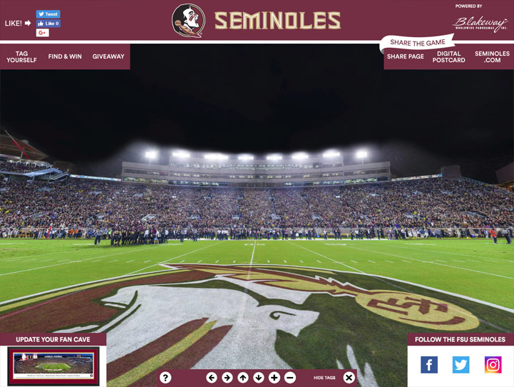 Florida State Seminoles 360 Gigapixel Fan Photo