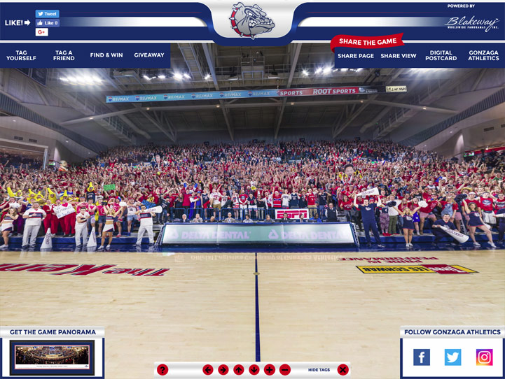 Gonzaga Bulldogs 360 Gigapixel Fan Photo
