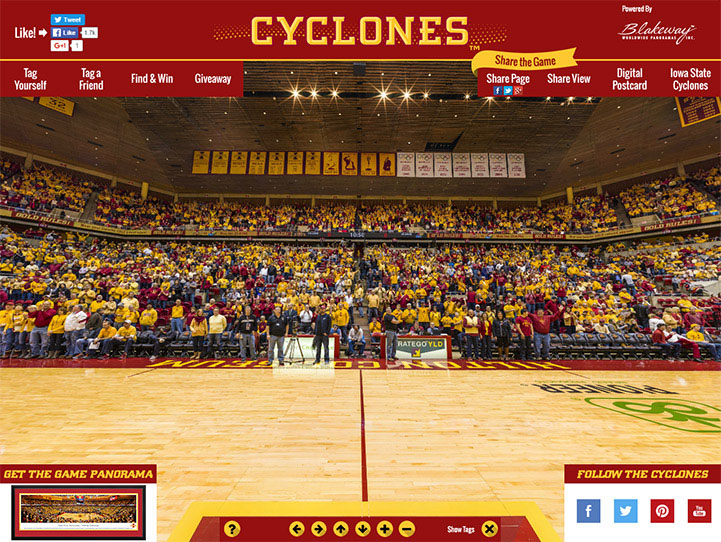 Iowa State Cyclones 360 Gigapixel Fan Photo