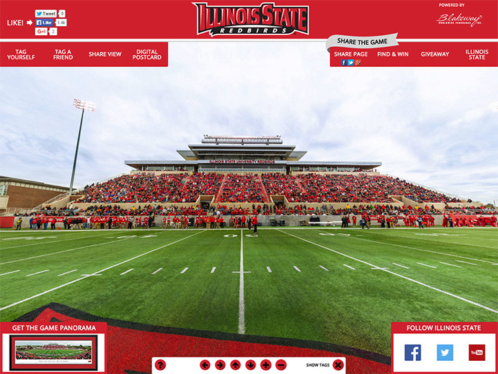 Illinois State Redbirds 360 Gigapixel Fan Photo