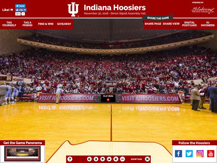 Indiana Hoosiers 360 Gigapixel Fan Photo