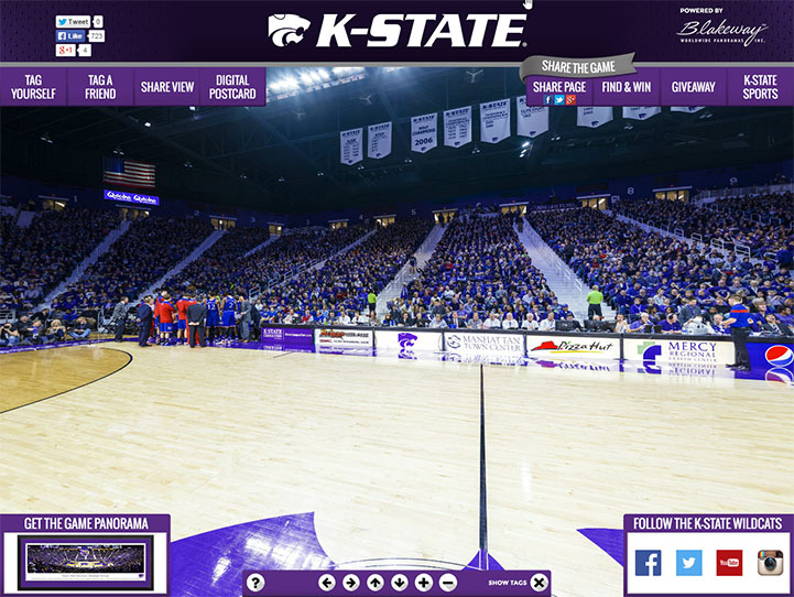 Kansas State Wildcats 360 Gigapixel Fan Photo