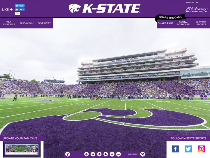 K-State Wildcats 360 Gigapixel Fan Photo