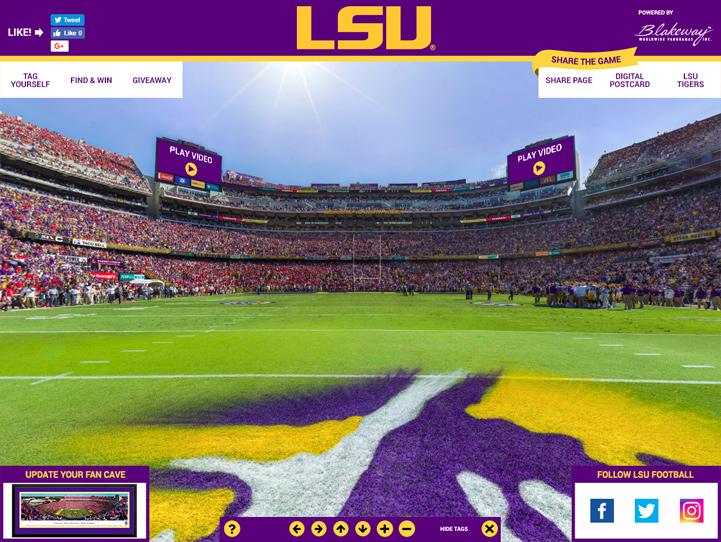 LSU Tigers 360 Gigapixel Fan Photo