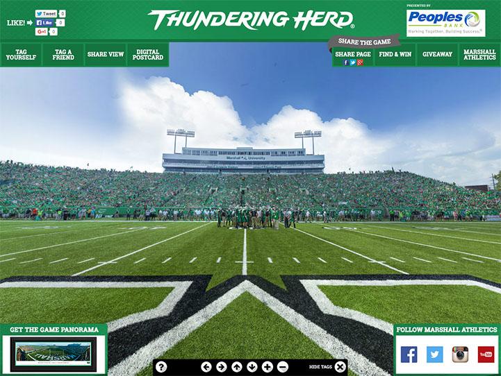 Marshall Thundering Herd 360 Gigapixel Fan Photo