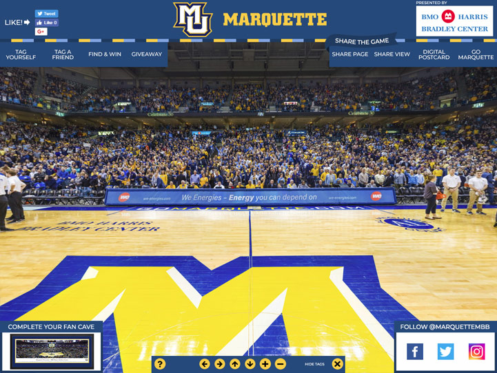 Marquette Golden Eagles 360 Gigapixel Fan Photo