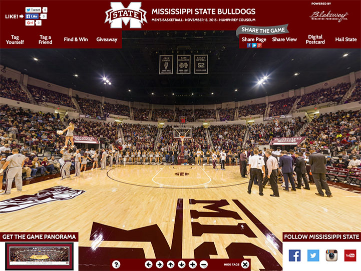 Mississippi State Bulldogs 360 Gigapixel Fan Photo