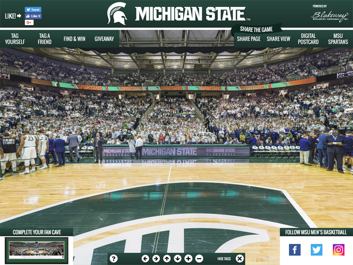 Michigan State Spartans 360 Gigapixel Fan Photo