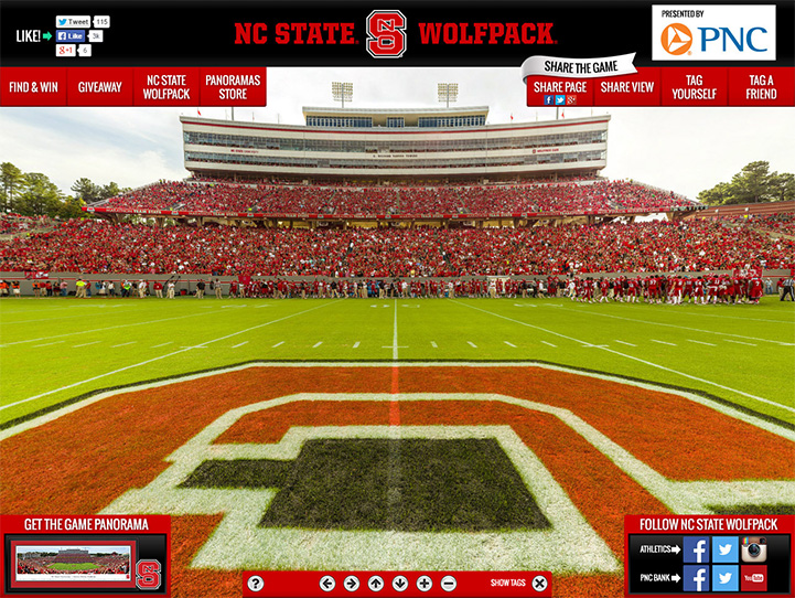 NC State Wolfpack 360 Gigapixel Fan Photo
