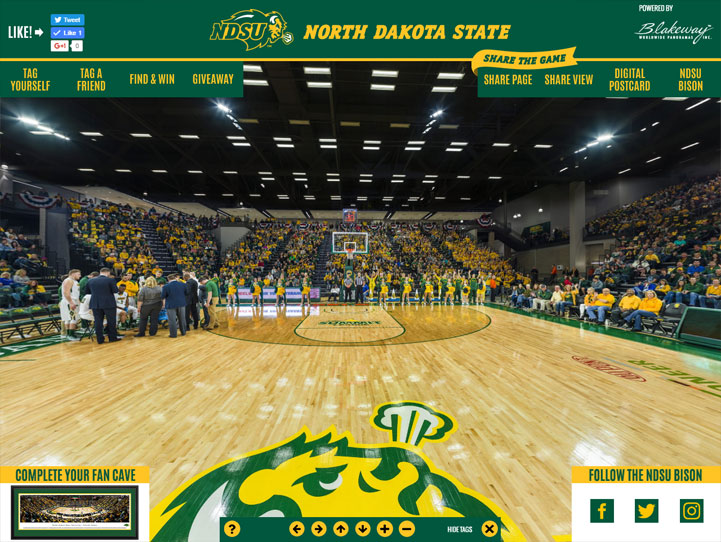 North Dakota State Bison 360 Gigapixel Fan Photo
