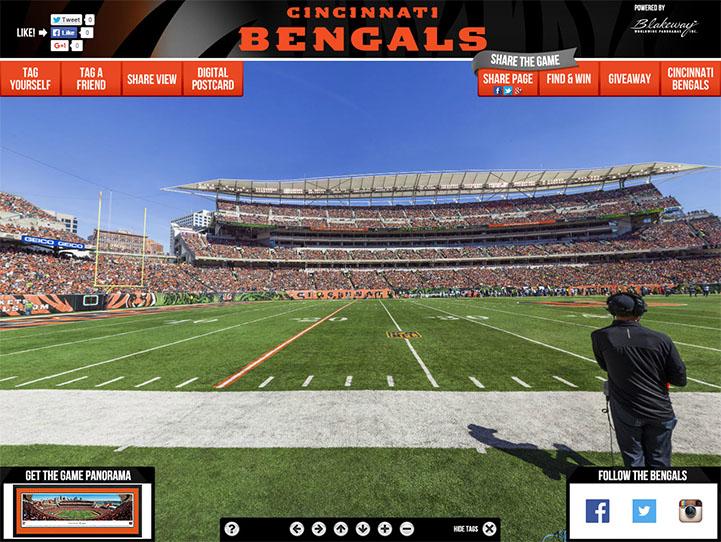 Cincinnati Bengals 360 Gigapixel Fan Photo