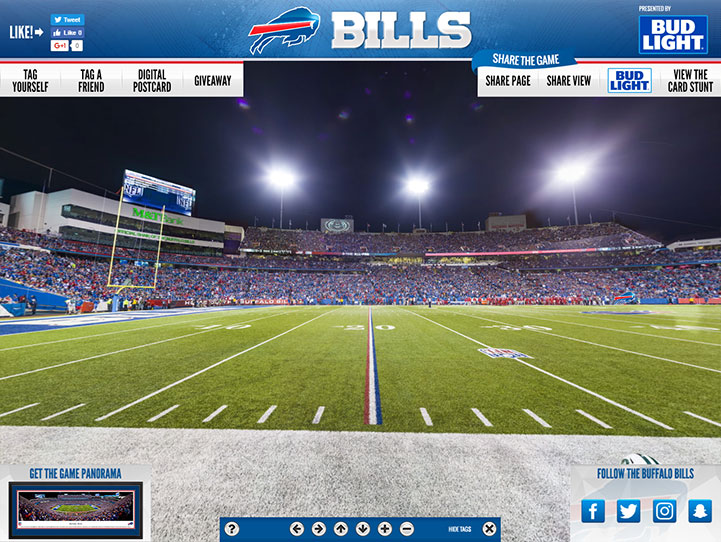 Buffalo Bills 360 Gigapixel Fan Photo