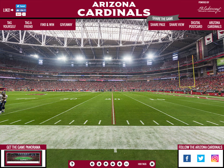 Arizona Cardinals 360 Gigapixel Fan Photo